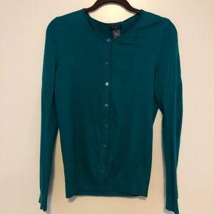 Ann Taylor cardigan - emerald green